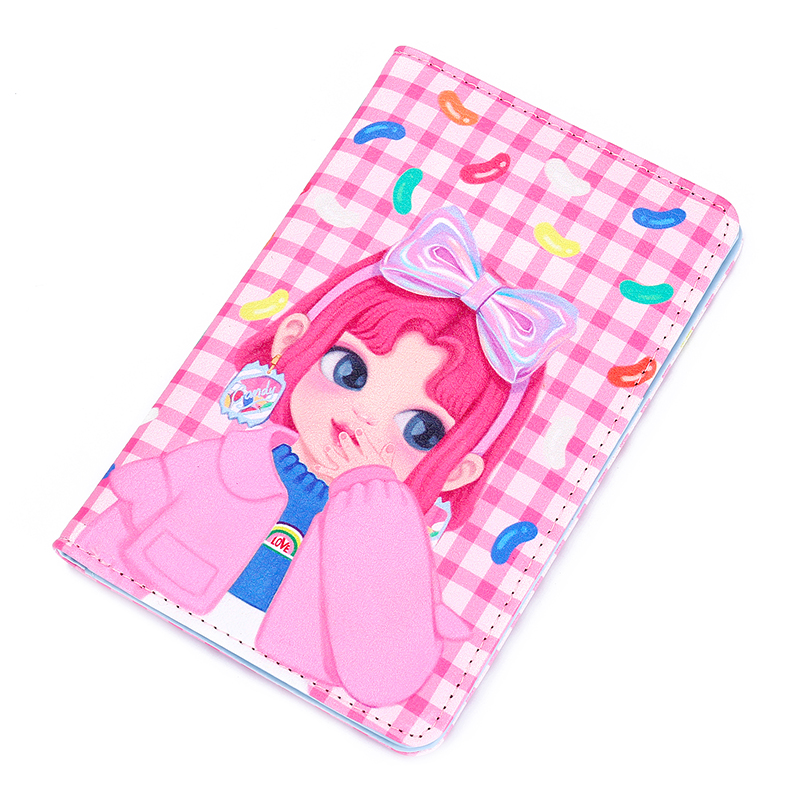 PU Girl Cartoon Passport Holder Women Chain Long Wallet Business Card Cover For Ticket Summer Travel Accessorry Passport Cover