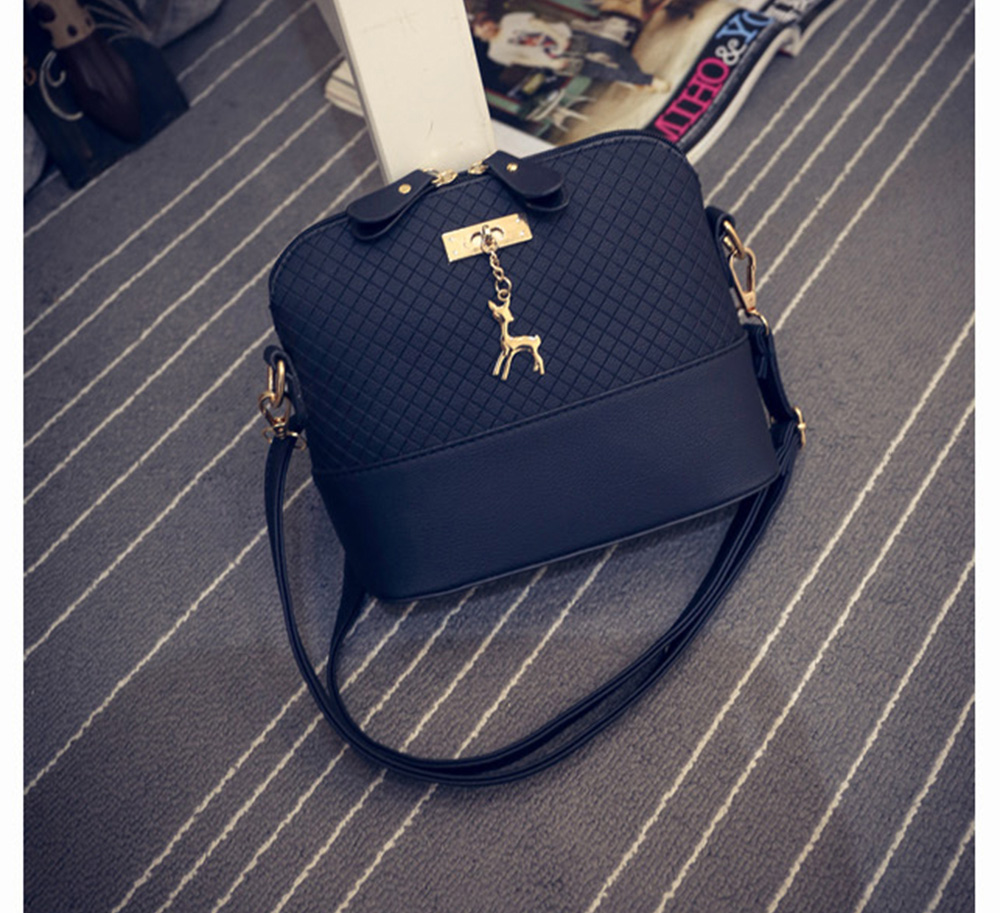 Women Shoulder Messenger Bags Kawaii Mini Bag With Deer Toy Small Clutch Phone Bag Girls Shell