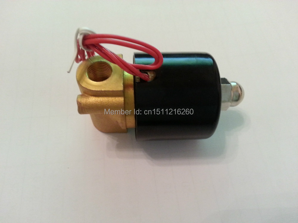 Free Shipping, 1/4 Brass Solenoid Valve, Normally closed ,for Water Air Oil gas , 220VAC 12VDC 24VDC ,2W025-08, home religion свеча декоративная 50 см цилиндрическая 26003800