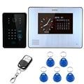 "S17233 SY 7"" TFT-LCD 900TVL Color Video Door Phone Intercom Rainproof Night Vision Record Keypad Remote Control Unlock Intercom"