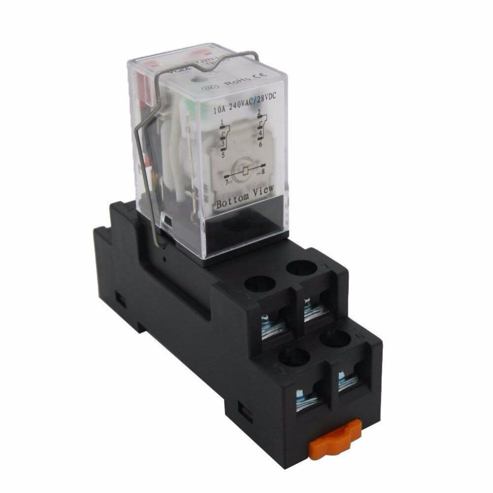 taiss/ac 24v coil electromagnetic power relay 10a 2dpt 8 pins 2no+2nc ly2nj  with yjtf08a e socket base yj2n ly relays  - aliexpress  aliexpress
