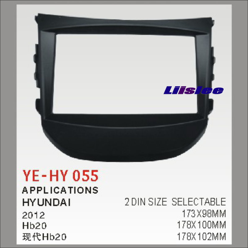 Pour Hyundai Hb20 2012 ~ 2016 Kit de tableau de bord Radio de rechange 2 DIN ABS plastique Fascias voiture panneau Audio cadre Fascia