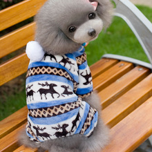 High Quality Winter Pet Dog Clothes Pet Sweater Christmas Elk Warm Soft Fleece Pet Clothing Costume Dog Puppy Supplier
