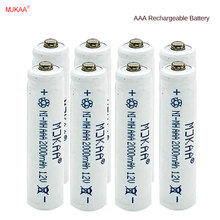 MJKAA 8pcs/lot New AAA 2000mAh NI-MH 1.2V Rechargeable Battery 3A rechargeable battery for camera,toys