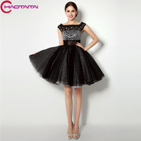 Homecoming платья 2018 Новая мода Короткие черные кружева 2018 официальная Вечеринка платье с Бисер платье Быстрая доставка для девочек