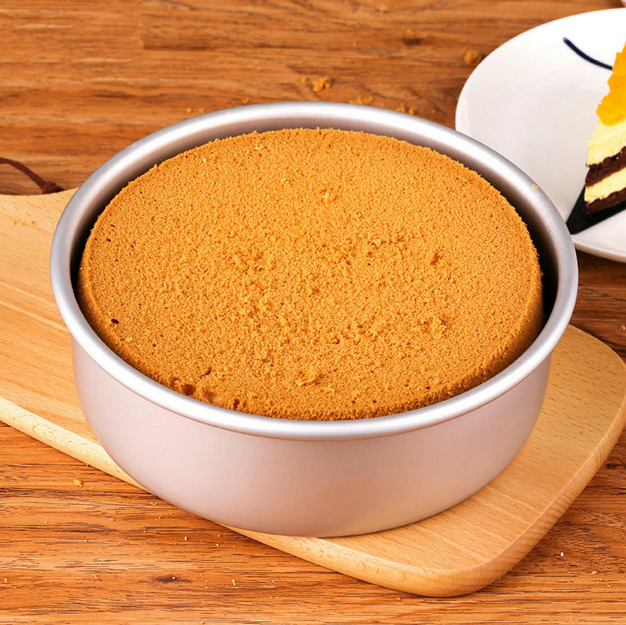 Tools Round Pattern Cake Pan Pudding Mold Aluminum Alloy Die Removable Bottom