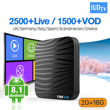 IUDTV 1 Year IPTV Europe Spain Italy Android 8.1 T95X2 S905X2 2+16G 4K H.265 Greek Portugal Turkey IP TV Set Top Box
