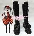 Дата A Live Tokisaki Каруми Черный Длинные Косплей Ботинки H016