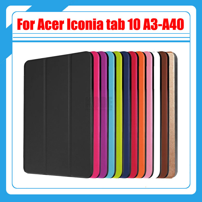 Magnetic smart PU leather cover case stand cover case for 2016 Acer Iconia tab 10 A3-A40 tablet Acer a3-a40+Stylus gift protective pu leather case for acer iconia tab a510 white