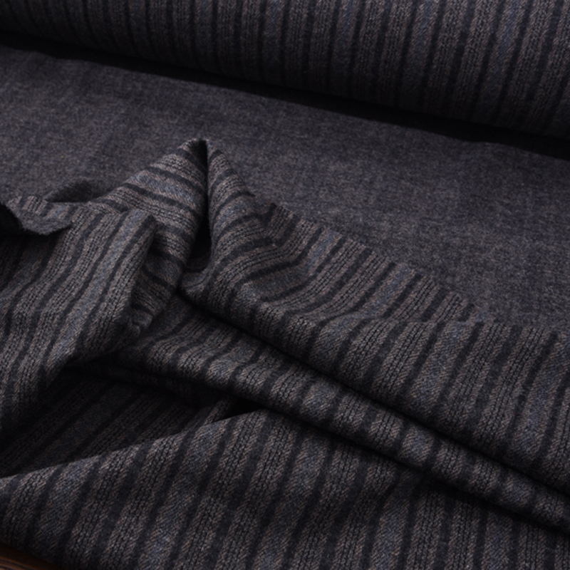 140CM Wide Stripe Print Stretch Knitted Wool Fabric for Autumn Spring Dress Jacket Blouse Pants H182