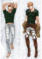 Anime Cartoon Shingeki no Kyojin Attack on Titan Double sided hugging Pillow Case Pillow Cover Pillowcase Peach Skin 2 Way 89014