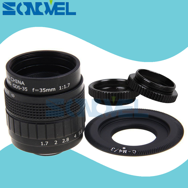 Fujian 35 Millimetri F1.7 Cctv Tv Movie Lens + C Mount + Macro Ring per Panasonic Micro 4/3 M4/ 3 GF5 GF6 GX1 GX8 GX7 G85 G7 GH5s GH4 GH2 GH3