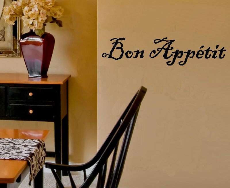 Bon Appetit Wall Decals Vinyl Stickers Home Decor Living Room Decorative Sticker Kitchen Wallpaper Decor