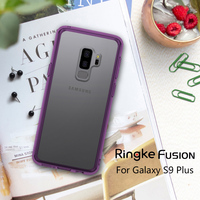 Original Ringke Fusion Clear PC Back Flexible TPU Edge Shock Absorption Drop Resistance Case For Samsung