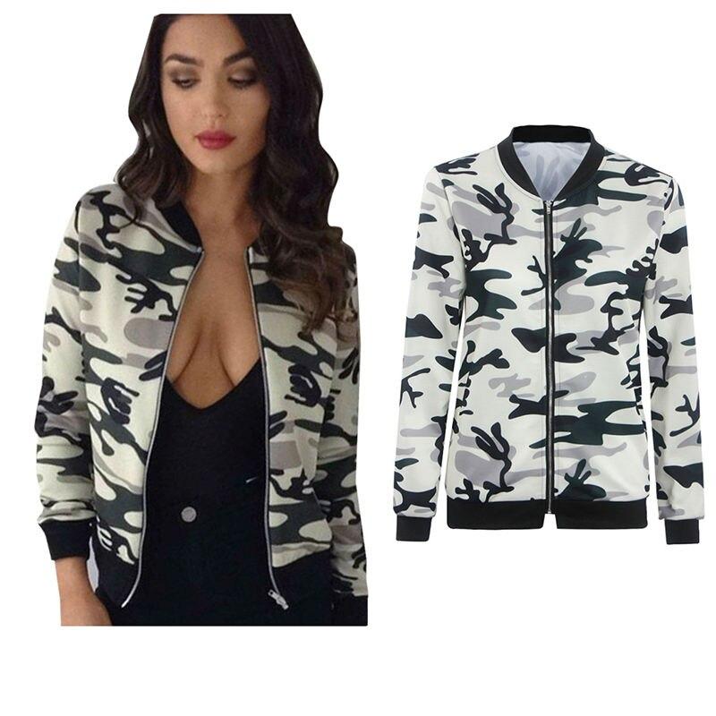 4fcba789e Autumn Winter Jacket Women 2016 Camouflage Bomber Jacket Flower Coat ...