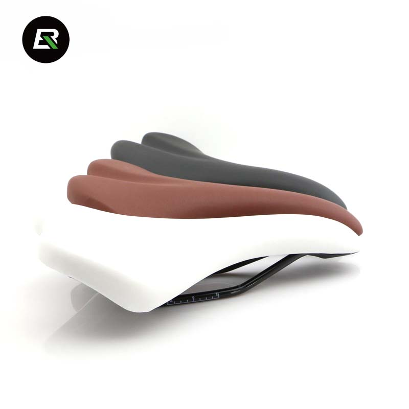 Rockbros Bicycle Saddle PVC Leather Mountain Road Bike Saddle Soft Comfortable Bike Cycling Seat 3 Color Bicycle Parts Selle Vtt rockbros hollow bicycle saddle comfortable wide mountain bike seat leather soft cushion mtb road cycling saddle bicycle parts