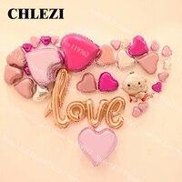 رومانسية valentine اقتراح زينت تخطيط غرفة الحب الشفاه إلكتروني احباط بالون بالون الزفاف الذكرى