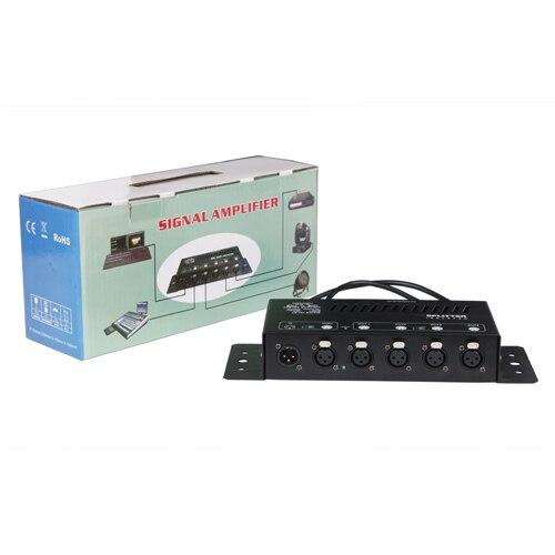 Лидер продаж Раша Тип 8 канала DMX Splitter ac11v 240v DMX сигнала Усилители домашние сплиттер DJ оборудование, сценический свет