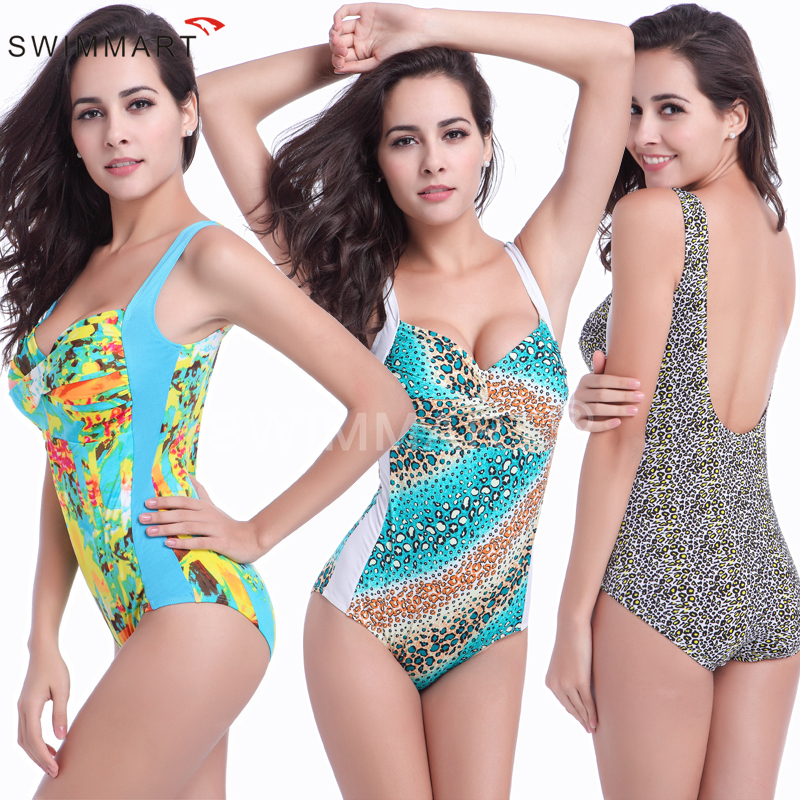Women Skirted One Piece Swimsuit 2018 New Floral Printed Swimwear Plus Size Bathing Suit Push Up Jumpsuit Ladies Bodysuit