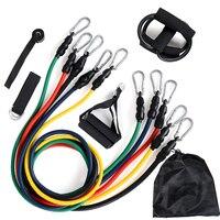 12 Pçs/set Pilates Látex Expansores de Tubos Conjuntos de Resistência do Exercício da Tubes Prático Resistance Band Crossfit Fitness Equipment