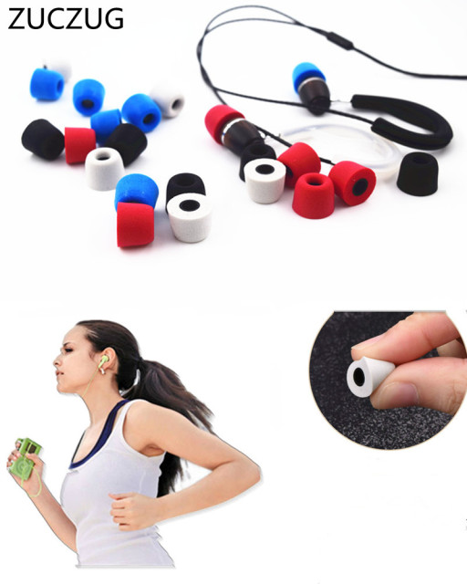 ZUCZUG 2 pair T400 12.5MM 13.5MM Earphone tips Memory Foam Sponge ear pads for headphones 4.9 mm Caliber Headset accessories
