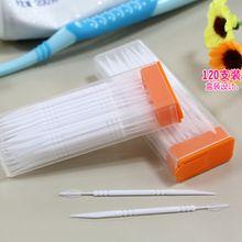 Портативные зубочистки пластиковые 120шт плюс кисть в ясном случае Корейский экологически чистый без запаха Зубочистка Бесплатная доставка