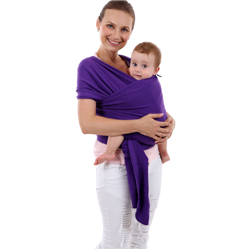 EGMAO Comfortable Fashion Infant Sling Soft Natural Wrap Baby Carrier Backpack 0-3 Yrs Breathable Cotton Hipseat Nursing Cover