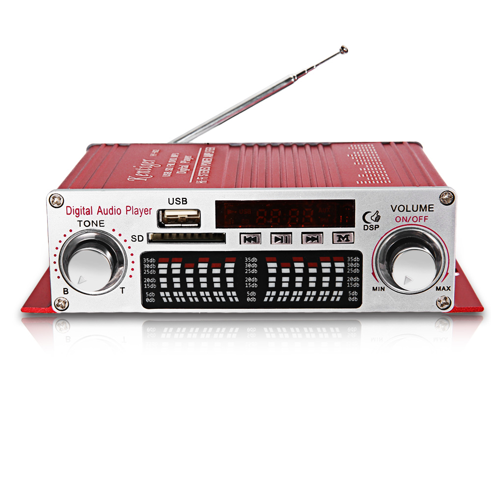 Digital Amplifier Kentiger HY-602 Mini Portable HiFi Stereo Power With FM IR Control FM MP3 USB Playback With Four DSP Car