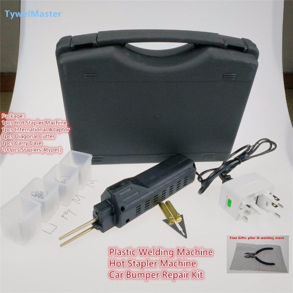 Chaude Agrafeuse En Plastique Système De Réparation Pistolet De Soudage Pare-chocs Carénage Carrosserie Outil En Plastique Soudeur Base En Plastique Machine De Soudage