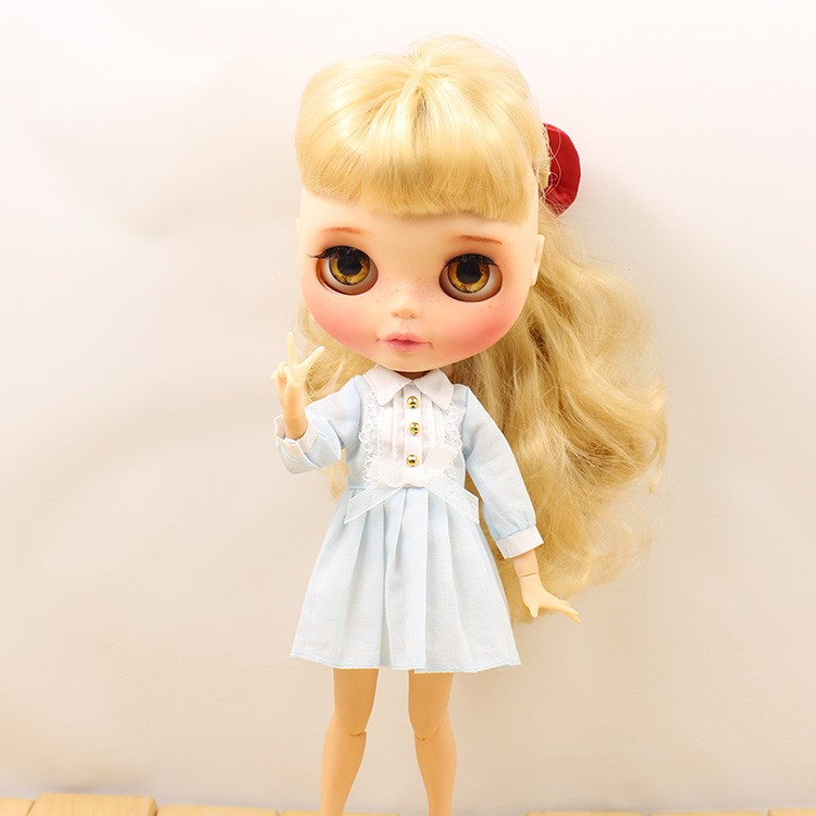 Neo Blythe Doll Autumn Dress with Long Sleeves 3