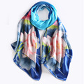 High-end Pure Silk Scarf Women 2016 Spring Autumn New Style Fashion Ladies Long Shawls Elegant Printed Scarf for Women 175X52cm