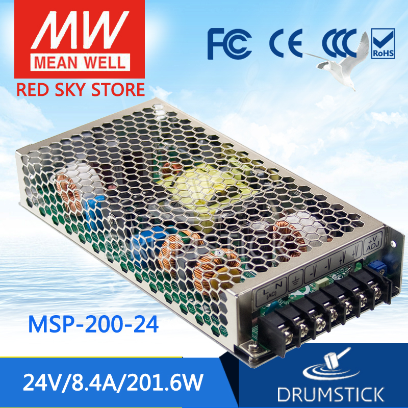 Selling Hot MEAN WELL original MSP-200-24 24V 8.4A meanwell MSP-200 24V 201.6W Single Output Medical Type Power Supply [powernex] mean well original msp 200 48 48v 4 3a meanwell msp 200 48v 206 4w single output medical switching power supply