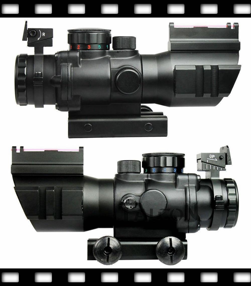 ФОТО 4X32 Tactical Rifle Scope W/ Tri-Illuminated Chevron Reticle Fiber Optic Sight Scope Rifle/Airsoft Gun Hunting Airsoft 8003