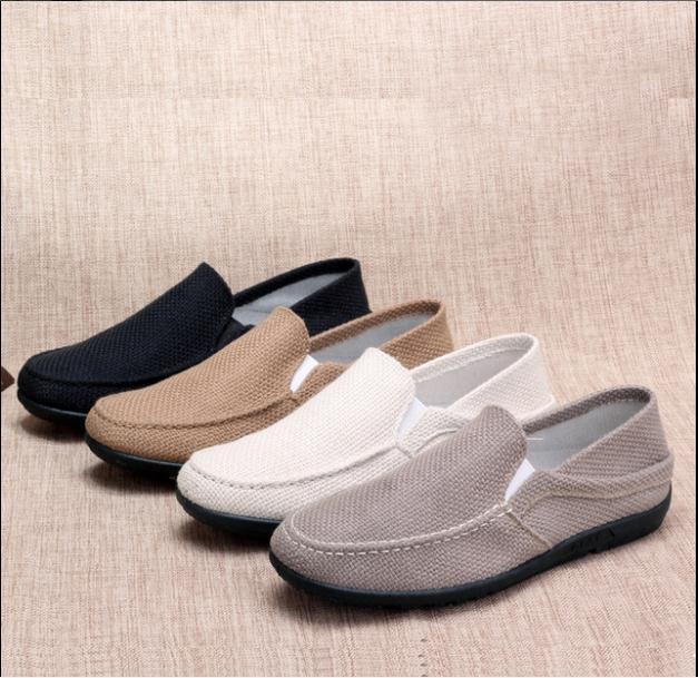 Linen mens singles shoes fashion leisure male canvas shoes  G021Linen mens singles shoes fashion leisure male canvas shoes  G021