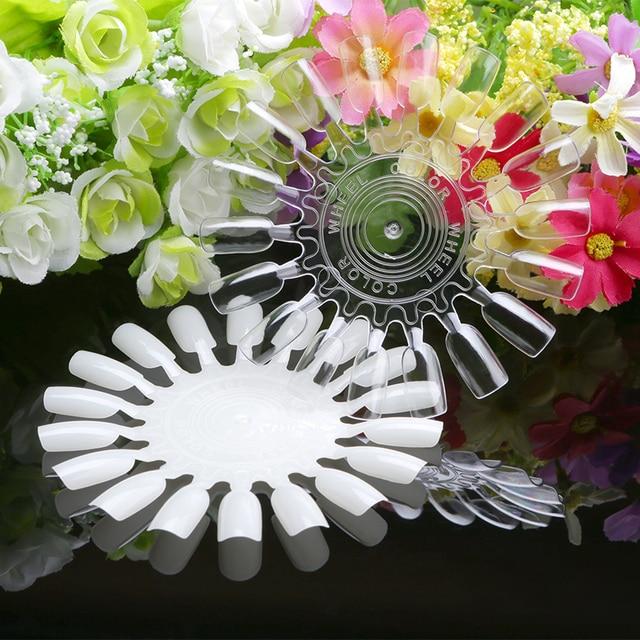 Pcs Nail Art Tips Palette New Fashion Practice Sample Round Wheel