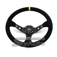 Factory To Customer One Stop Service 1PC OMP Black Colour Deep Corn Drifting14inch Car Steering Wheel
