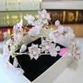 Lotus сплетения невесты Корейский высокого класса фиолетовый бренд тиара свадебные аксессуары для волос цветок корона