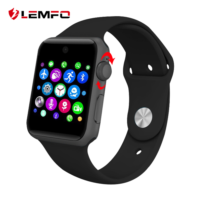 Lemfo LF07 bluetooth Smart Watch Sync Notifier support Sim Card sport smartwatch For apple iphone Android