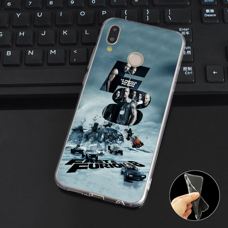 DREAMFOX M217 Fast Furious Soft TPU Silicone Case Cover For Huawei Honor 6A 6C 6X 7A 7C 7S 7X 8 Lite Pro in Fitted Cases from Cellphones Telecommunications