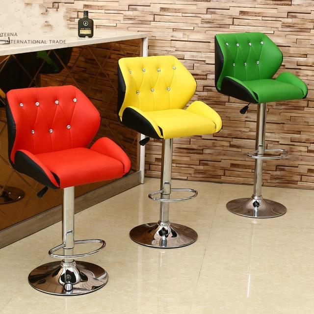 Простой барный стул спинка подъема высокого ног табурет бытовой многофункциональный мода барный стул.