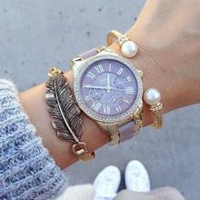 2016 Hot reloj de la marca de lujo de GINEBRA de silicona relojes de pulsera de las mujeres relojes de moda relojes mujer vestido Relogies masculinos relojes