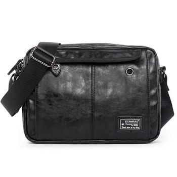 c2549a308ebc6 Moda Erkekler omuz çantaları Seyahat Çantası PU Deri Erkek Evrak Çantası  Marka Lüks Yüksek Kalite Için askılı çanta Erkekler laptop çantası Rahat