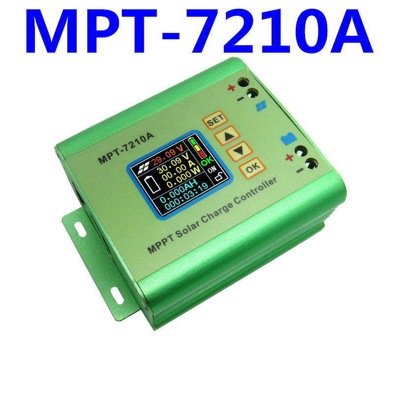 MPPT / DC-DC MPT-7210A Step-Up Power Solar Panel Charge Controller battery charger voltage current 24V 36V 48V 60V 72V 10A LCD цены онлайн