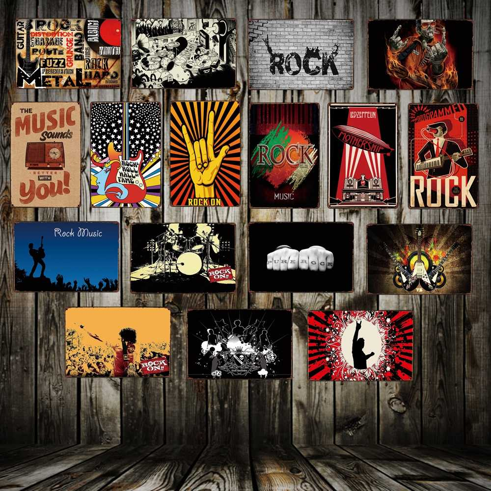 [ Mike86 ] Rock Music keep Calm Style Metal Tin SIGN Shop Concert decor Party Vintage Poster Antique Iron Painting FG-212