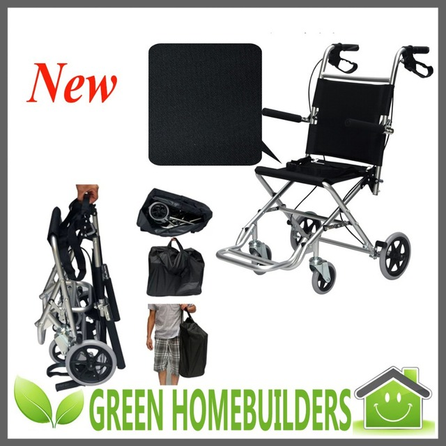 Portable Lightweight FoldingTravelling Airport Wheelchair for Children Elderly The Disabled with Seat Width 36cm or 41cm or 46cm