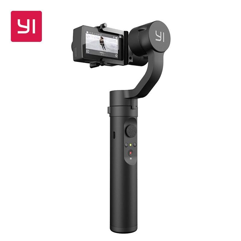 YI Action Giunto Cardanico Handheld Stabilizzatore 3-Assi 4 Modalità di Controllo Bluetooth 6-8 Ore Batteria per il YI 4 k Più 4 k YI Lite Macchina Fotografica di Azione