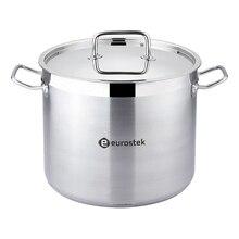 Кастрюля с крышкой Eurostek ES-1015(Объем 9 литров, диаметр 24 см, глянцевая поверхность, подходит для всех типов плит