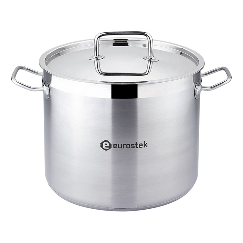 Фото - Saucepan with lid Eurostek ES-1015 (Volume 9 liters, diameter 24 cm, glossy surface, suitable for all types of plates) saucepan with lid eurostek es 1007 volume 4 5 liter diameter 22 cm пятислойное bottom suitable for all types of plates