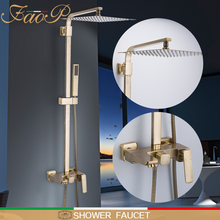 FAOP Shower faucets gold bathroom shower sets waterfall heads faucet for mixer luxury rainfall