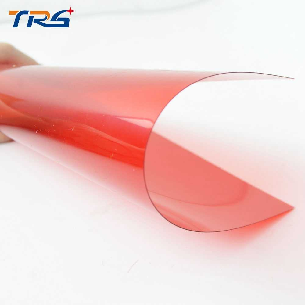 5pcs PVC transparent film ABS red plasitc grass sheet in size 200*300mm thickness 0.3mm